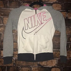 Nike zip up hoodie with glitter detailing